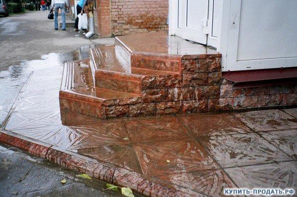 Как сделать мрамор из бетона глянцевым
